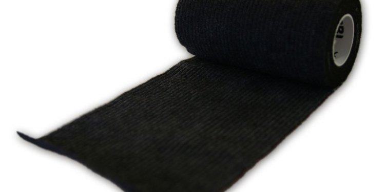 Selbstklebendes Bondagetape in schwarz.
