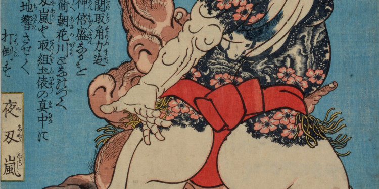 Tengan Isobyôe und Yajin Ran, 1830-1845 Farbholzschnitt, Papier, 37 x 25 cm © Museum für Kunst und Gewerbe Hamburg