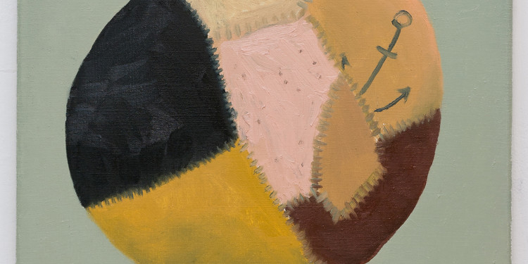 Skin Ball, 2012, Schwarz Contemporary, Berlin Öl auf Leinwand, 55 x 50 cm © Schwarz Contemporary, Berlin