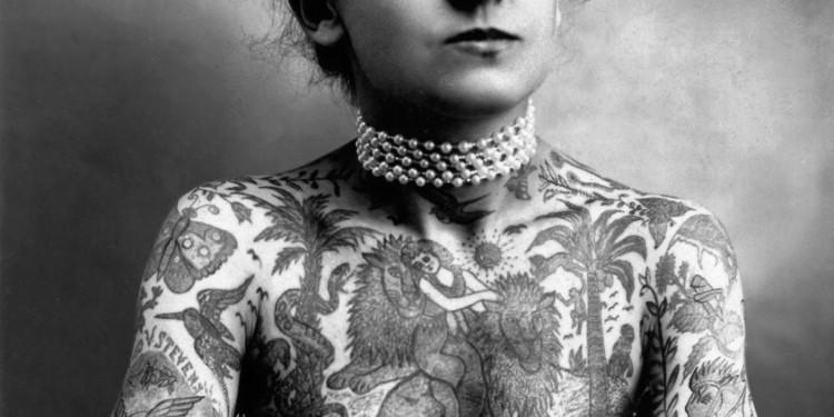 Porträt von Maud Stevens Wagner, Tattoo-Künstlerin, USA, 1877-1961 Foto: Library of Congress, Washington