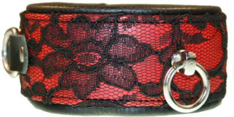 Halsband Burlesque Premium rot/schwarz, 79,95 €